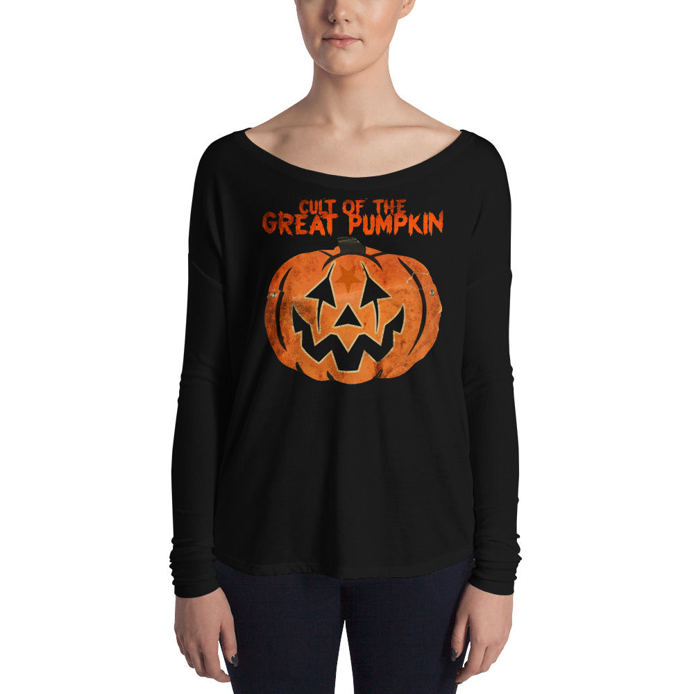 Cult of the Great Pumpkin - Mask Ladies' Long Sleeve Tee