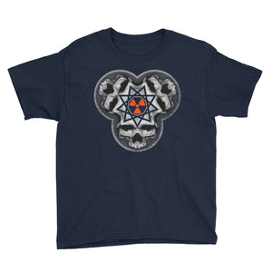 SINISTER SKULLS - Enneagram Skull Youth Short Sleeve T-Shirt