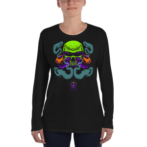 Happy Haunting Anvil 884L Women's Lightweight Long Sleeve Tee with Tear Away Label
