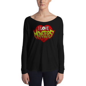I Love Monsters Ladies' Long Sleeve Tee