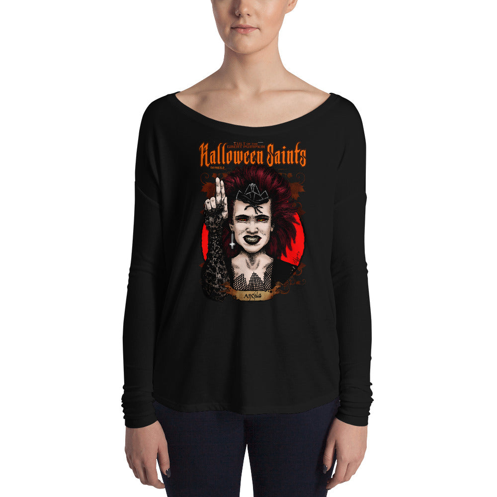 Halloween Saints Series 2 - Angela Ladies' Long Sleeve Tee