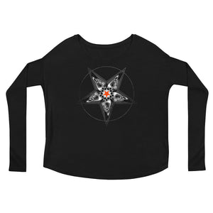 SINISTER SKULLS - Corvus Pentacle Ladies' Long Sleeve Tee