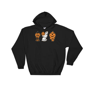 3 Halloween Blowmolds Hooded Sweatshirt
