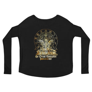 Cult of the Great Pumpkin - Hourglass Turtle Ladies' Long Sleeve Tee