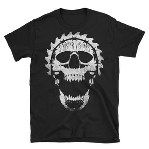 Sinister Visions Screaming Skull Short-Sleeve Unisex T-Shirt