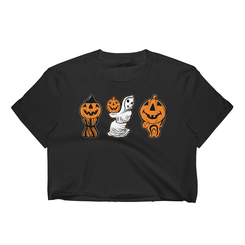 3 Halloween Blowmolds Women's Crop Top