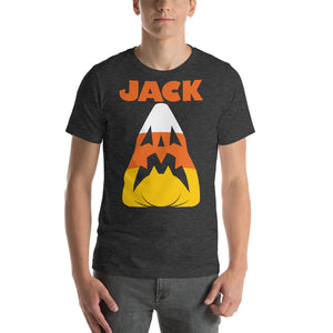 Candy Corn Jack Attack Premium Short-Sleeve Unisex T-Shirt