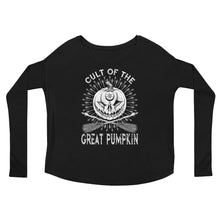 Cult of the Great Pumpkin - Crossed Brooms Ladies' Long Sleeve Tee