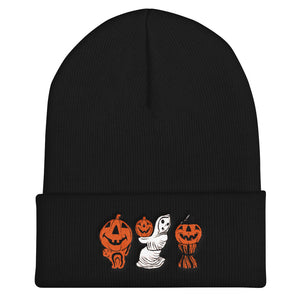 Halloween Blowmold Decorations Embroidered Cuffed Beanie