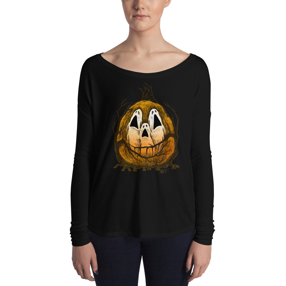 Halloween Spirits Ladies' Long Sleeve Tee