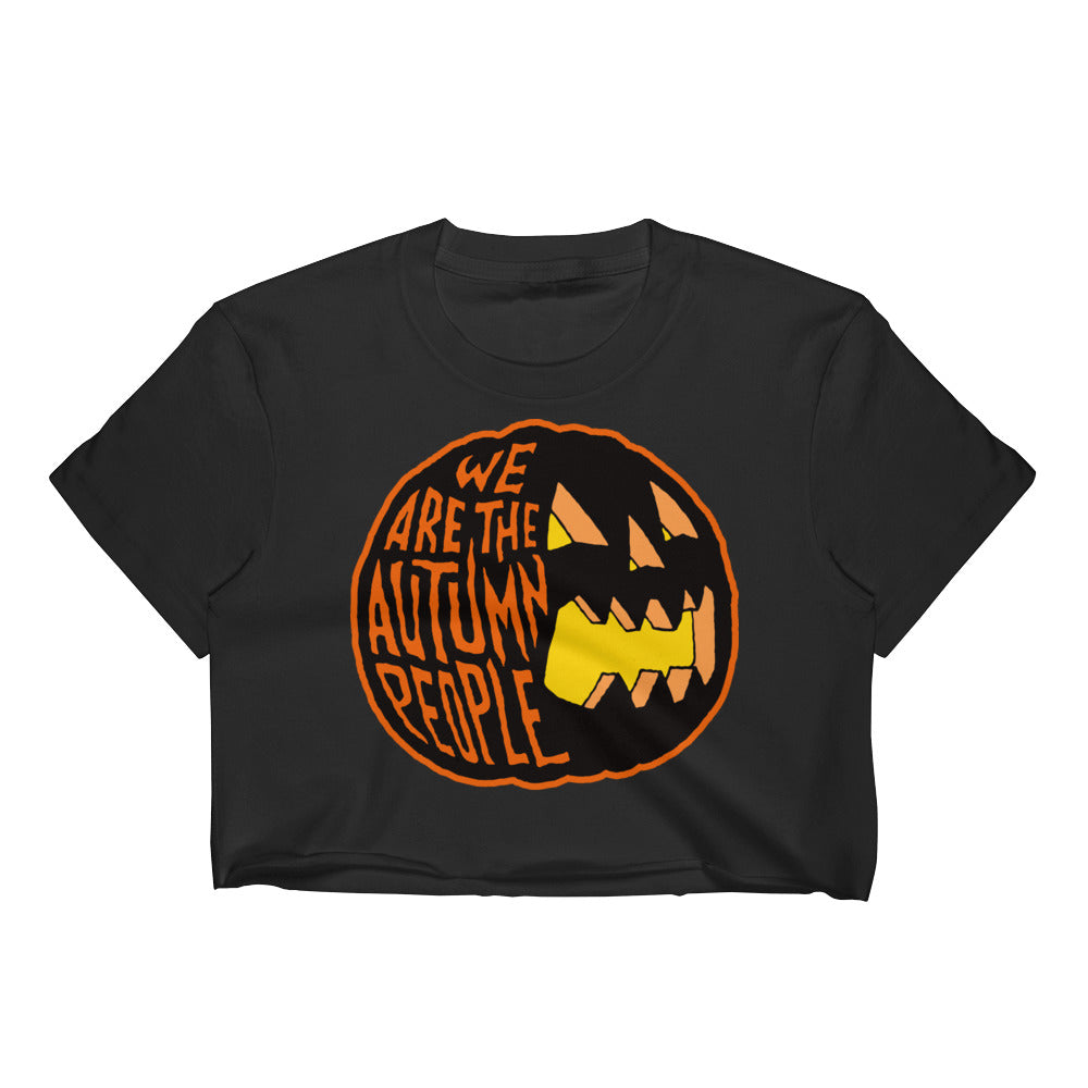 We Are the Autumn People Pumpkin Women's Crop Top