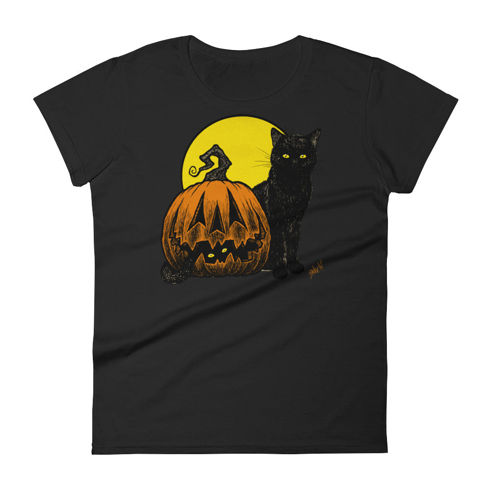 Still Life with Feline and Gourd Women's short sleeve t-shirt