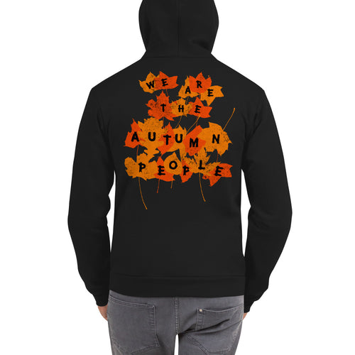 We Are the Autumn People Leaves Zip Up Hoodie sweater