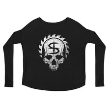 Sinister Visions Logo Skull Ladies' Long Sleeve Tee