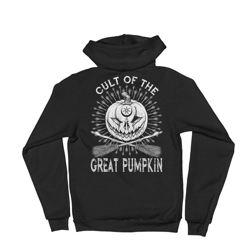 Cult of the Great Pumpkin - Crossed Brooms Hoodie sweater