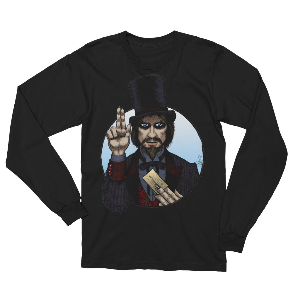 Halloween Saints - ALT - Mr. Dark Unisex Long Sleeve T-Shirt