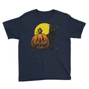 Still Life with Feline and Gourd Youth Short Sleeve T-Shirt