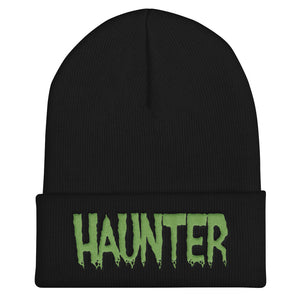 Haunter (Green) Embroidered Cuffed Beanie