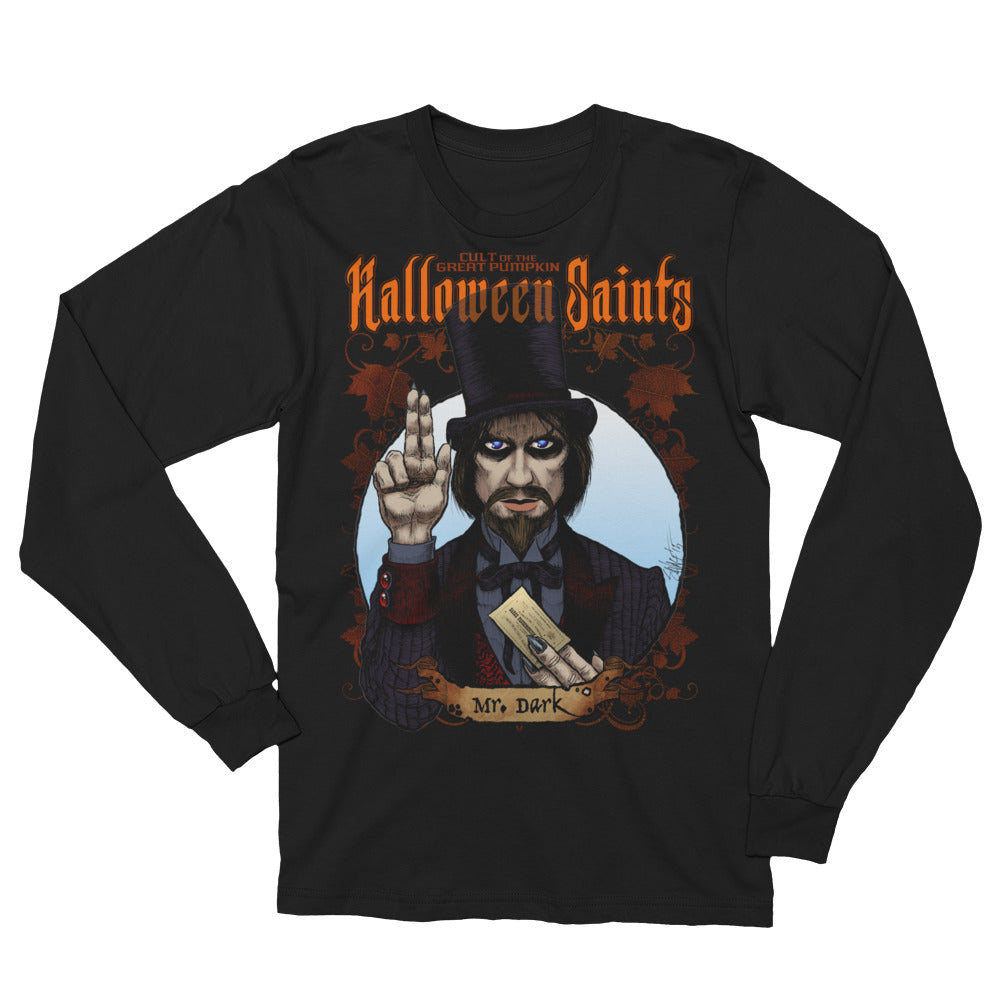 Halloween Saints - Mr. Dark Unisex Long Sleeve T-Shirt