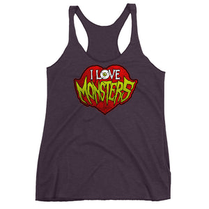 I Love Monsters Women's Racerback Tank