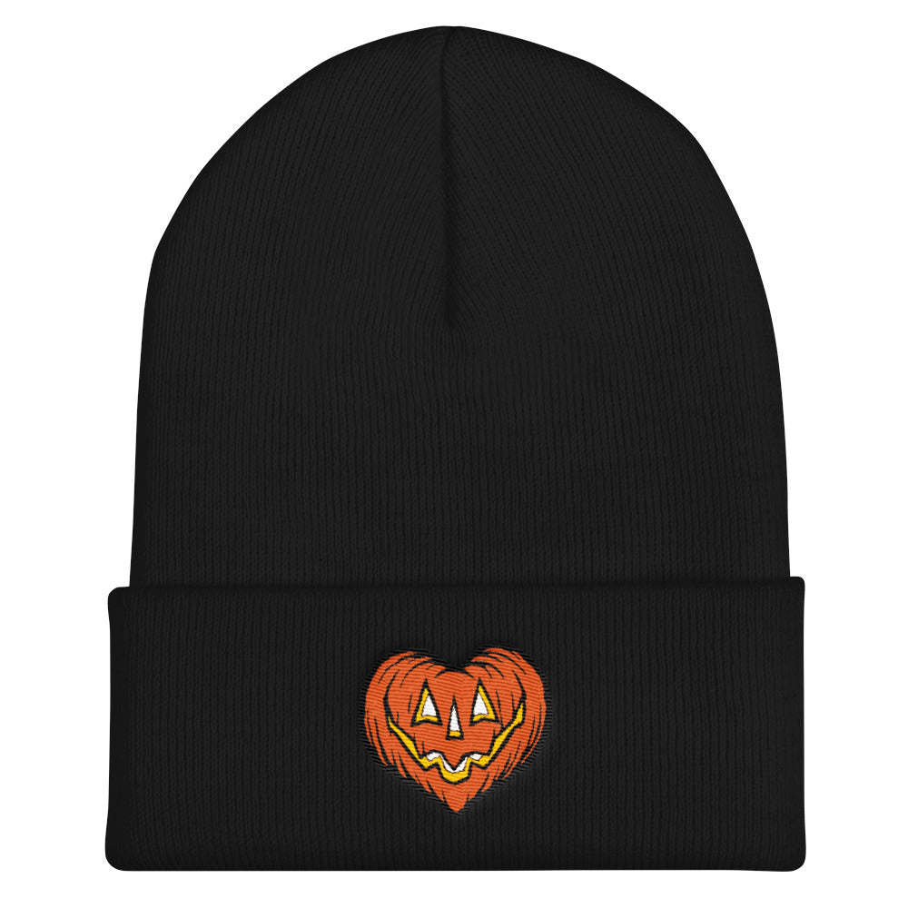 I Love Halloween Embroidered Cuffed Beanie