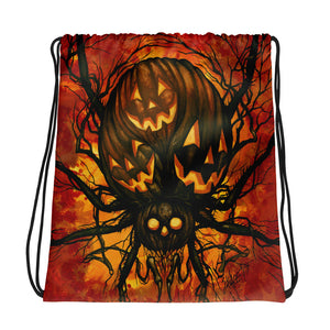 Harvest Spider Drawstring bag
