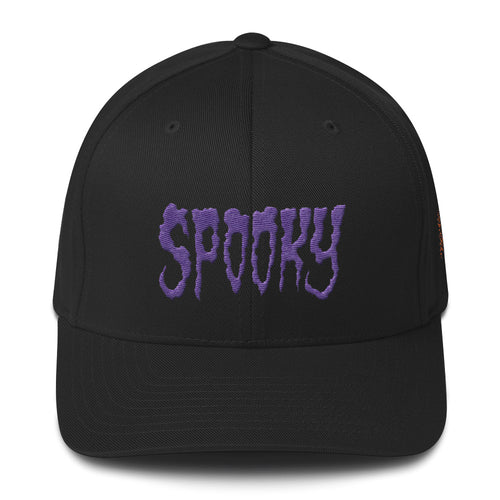 SPOOKY (Purple) Embroidered Structured Twill Cap