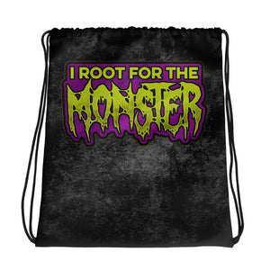 I Root for the Monster Drawstring bag