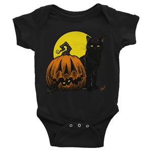 Still Life with Feline and Gourd Infant Bodysuit