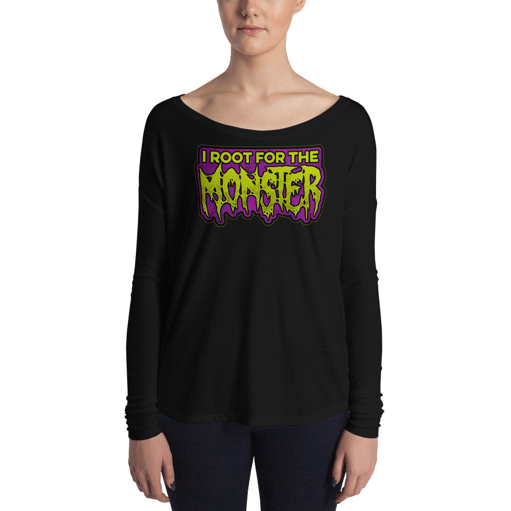 I Root for the Monster Ladies' Long Sleeve Tee