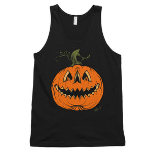 Grim Grinning Gourd Classic tank top (unisex)