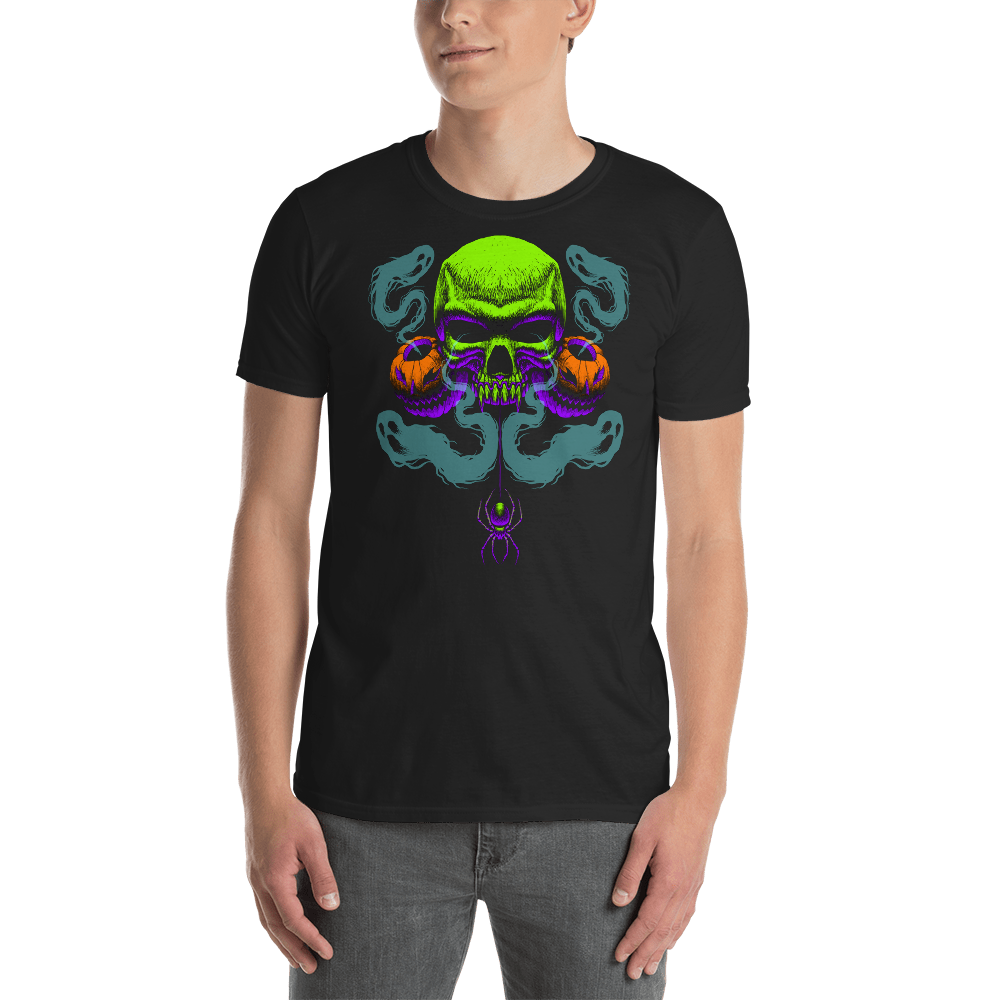 Happy Haunting Gildan 64000 Unisex Softstyle T-Shirt with Tear Away Label