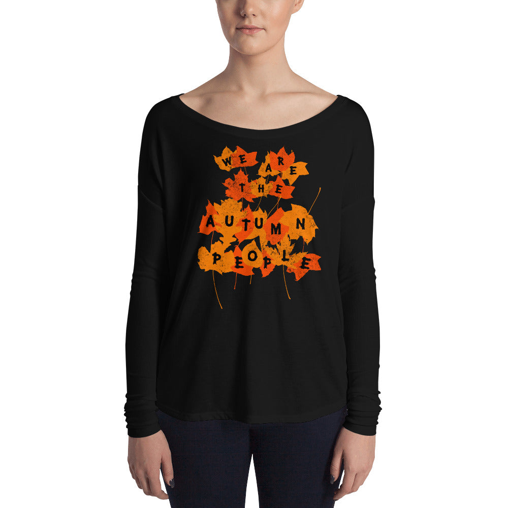 We Are the Autumn People Leaves Ladies' Long Sleeve Tee