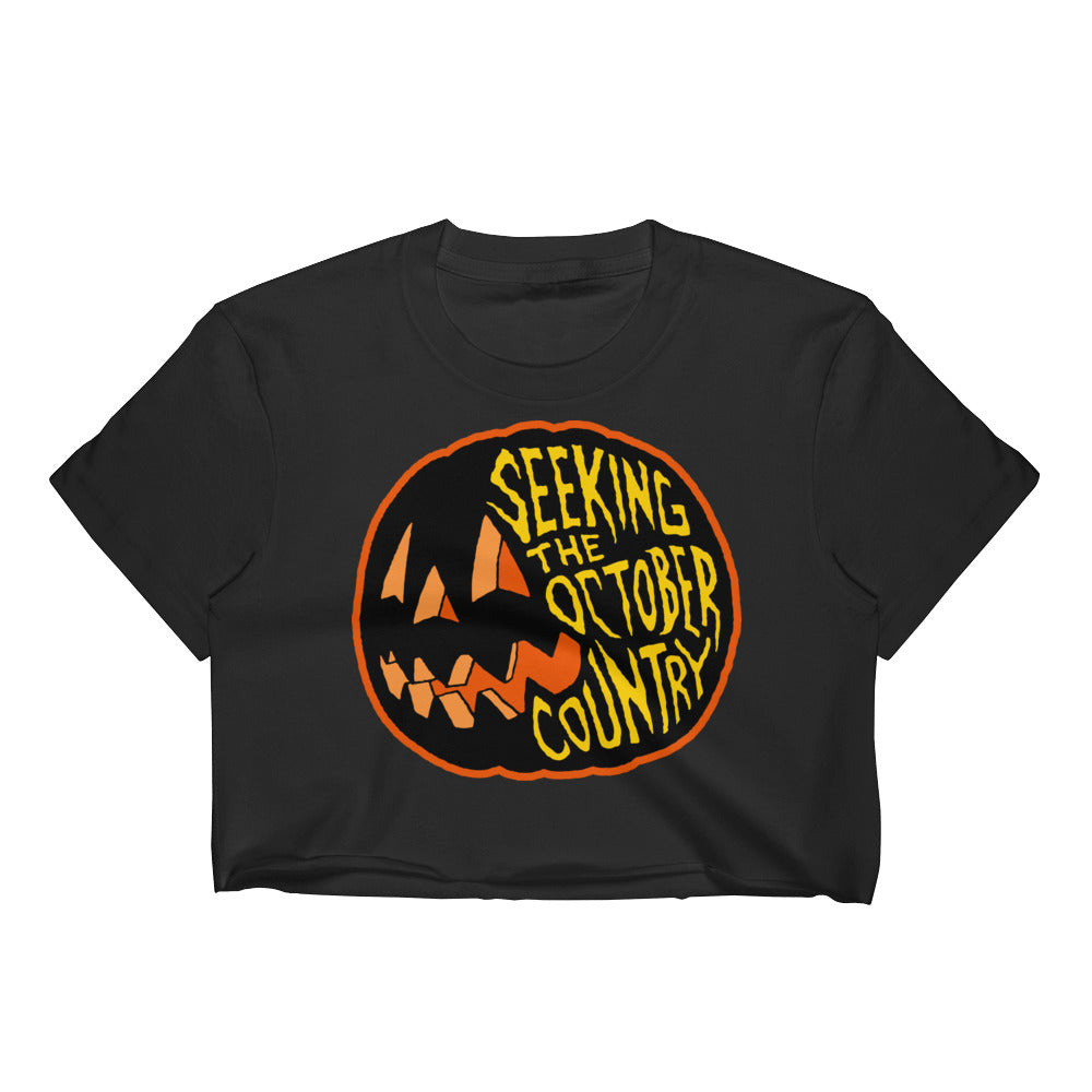 Seeking the October Country Pumpkin Women's Crop Top