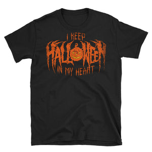 I Keep Halloween In My Heart Short-Sleeve Unisex T-Shirt