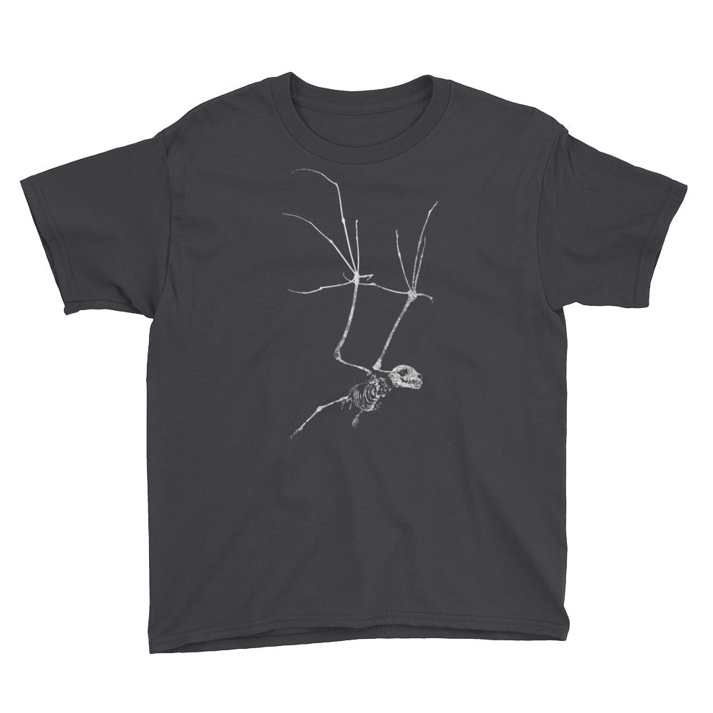 Bat Skeleton Youth Short Sleeve T-Shirt
