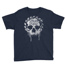 Sinister Visions Splatter Skull Youth Short Sleeve T-Shirt