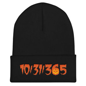 10/31/365 Embroidered Cuffed Beanie