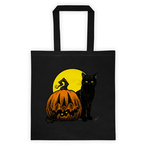 Still Life with Feline & Gourd Tote bag