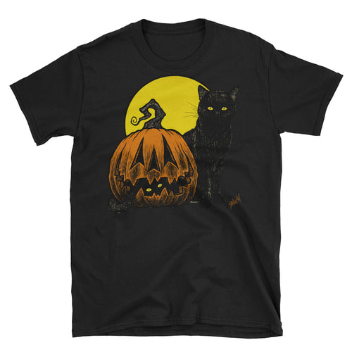 Still Life with Feline and Gourd Short-Sleeve Unisex T-Shirt