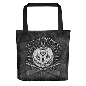 Cult of the Great Pumpkin: Crossed Brooms Tote bag