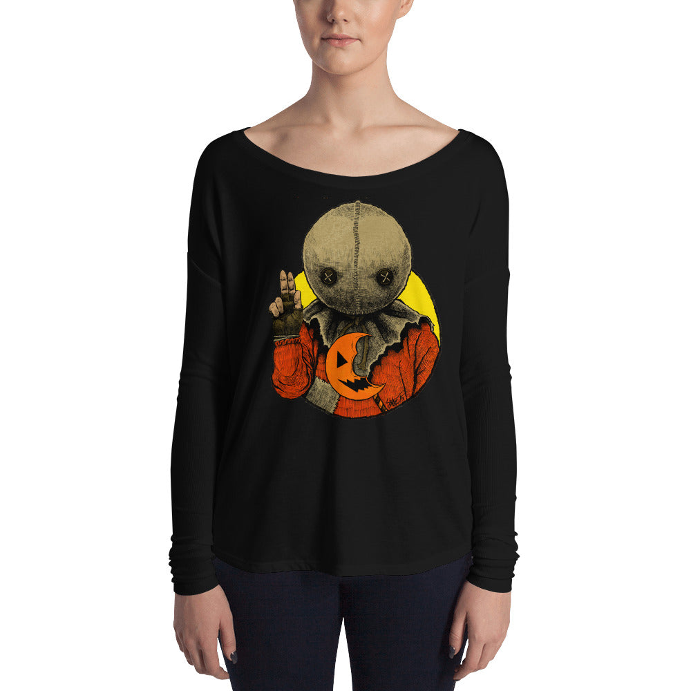 Halloween Saints - ALT - Sam Ladies' Long Sleeve Tee