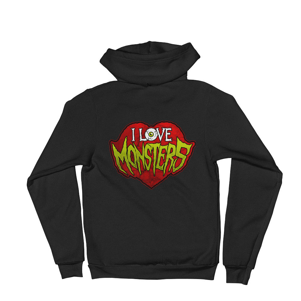 I Love Monsters Hoodie sweater