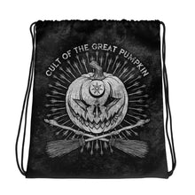Cult of the Great Pumpkin Crossed Brooms Drawstring bag