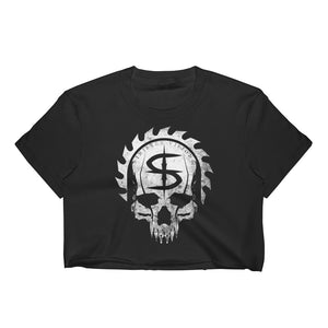 Sinister Visions Logo Skull Women's Crop Top