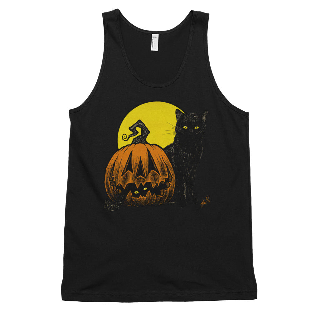 Still Life with Feline and Gourd Classic tank top (unisex)
