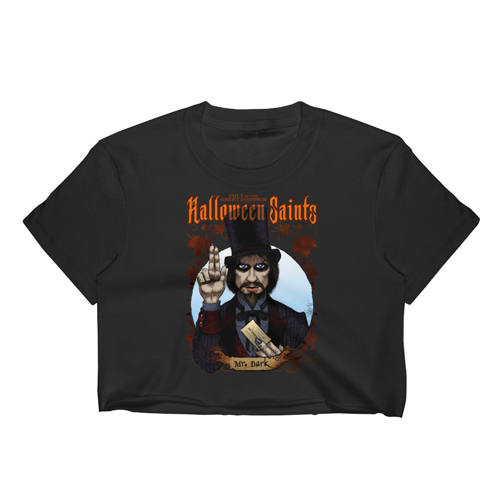 Halloween Saints - Mr. Dark Women's Crop Top