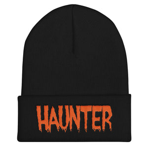 Haunter (Orange) Embroidered Cuffed Beanie