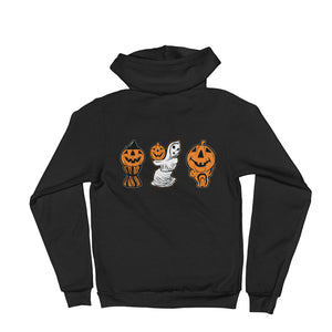 3 Halloween Blowmolds Hoodie sweater