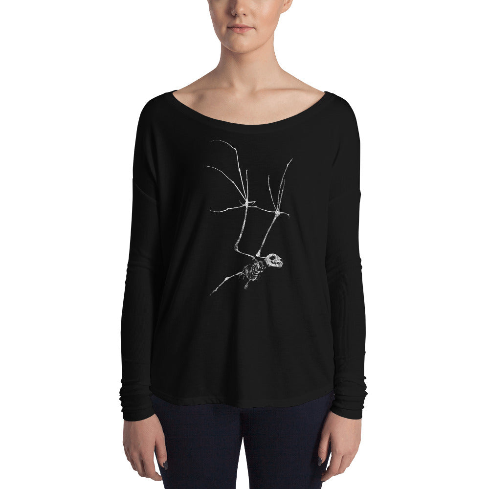 Bat Skeleton Ladies' Long Sleeve Tee